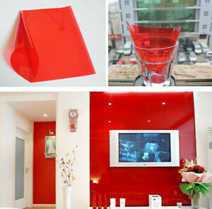 Red Window Tint >> Details About Red Window Tint Window Glass Tinting Solar Film Self Adhesive Festival Decors