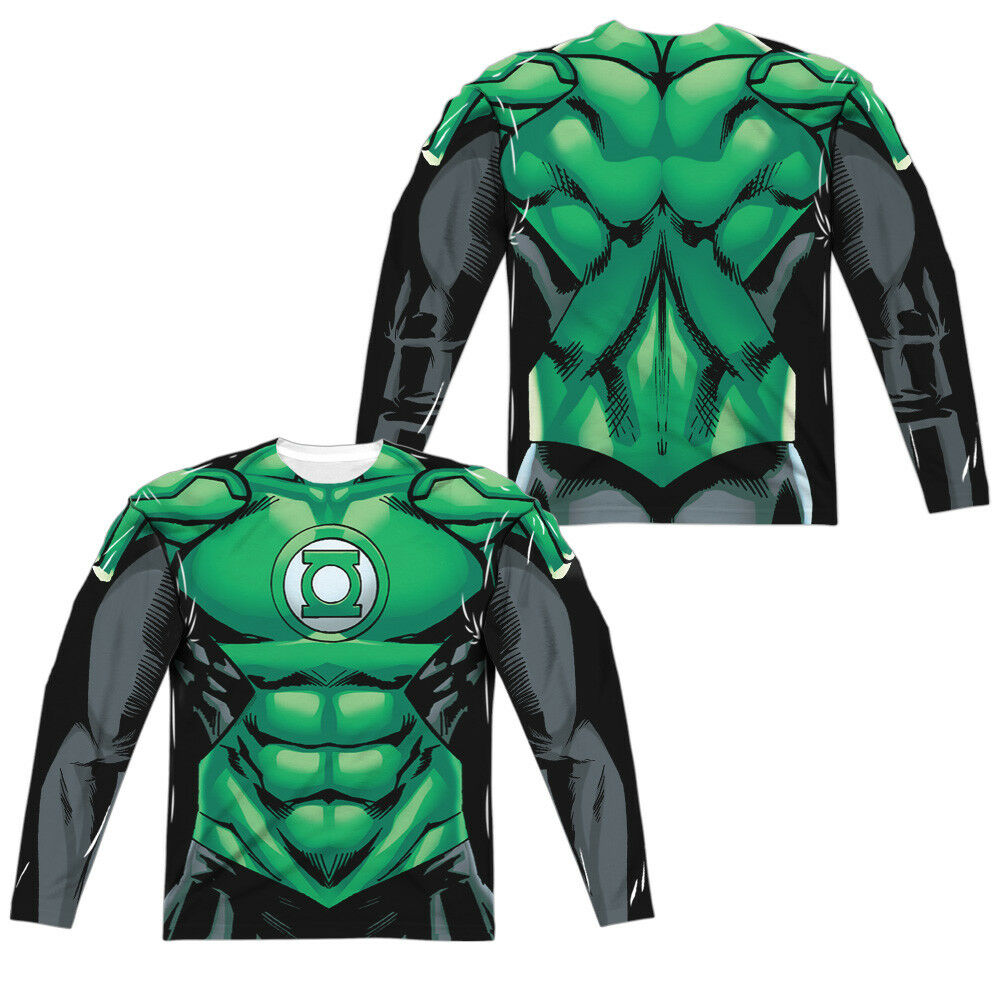 Green Lantern UNIFORM 2-Sided Sublimated All Over Print Long Sleeve Poly T-Shirt