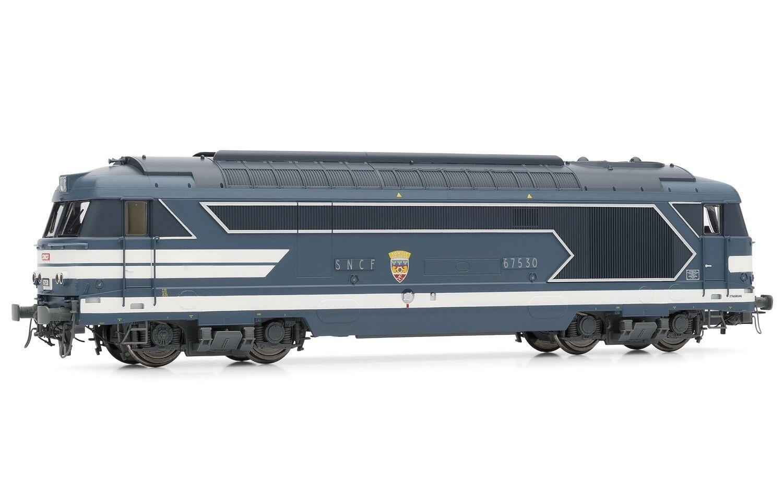JOUEF HJ2330 LOCOMOTIVE DIESEL BB 67530 LIVREE bluE A PLAQUES SANS JUPES SNCF