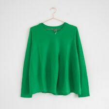 HOF115: COS Stricktop merino wolle grün / Merino wool jumper top green M
