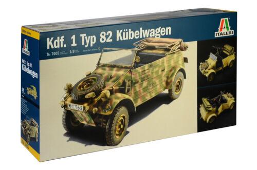 Italeri 7405-1//9 WWII Dt KDF 1 Typ 82 Kübelwagen Neu