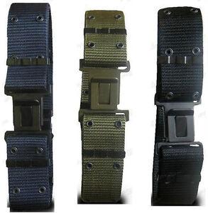Cinturone-Militare-Tattico-a-Sgancio-Rapido-Nylon-Nero-Blu-Verde-Vegetato-Grigio