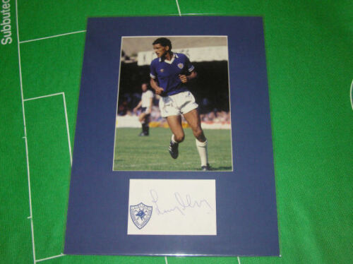 Larry May Signed Leicester City Press Photo Mount