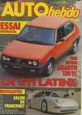 AUTO HEBDO n°387 du 22 Septembre 1983 FIAT ABARTH 130TC