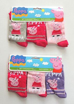 PEPPA PIG   3 ER PACK    SOCKEN STRÜMPFE  GR. 23 - 34