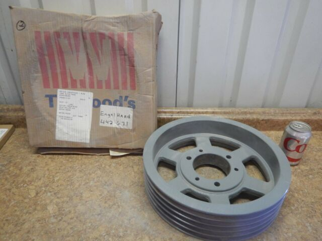 "NEW TB Woods 805B Bushing Bore V-Belt Pulley 5 Groove 8.35/"" OD Wood/'s Sheave"