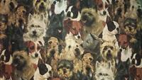 Dogs, Scotch Terriers, Boston Terriers Curtain Valance Fits 28 W Window/rod