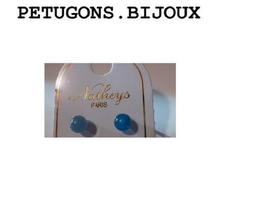 argent massif 925°°°garanti Boucles d/'oreilles puces,clous agate bleu 4 mm