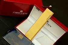 TABLE Lighter CARAN D'ACHE GOLD Pied De Poule Finishing-NEW (NOS) FULL SET-RARE
