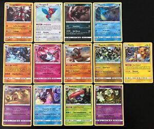 Lot-des-13-Cartes-Pokemon-147-HOLO-Soleil-et-Lune-3-SL3-Ombres-Ardentes-FR-NEUF