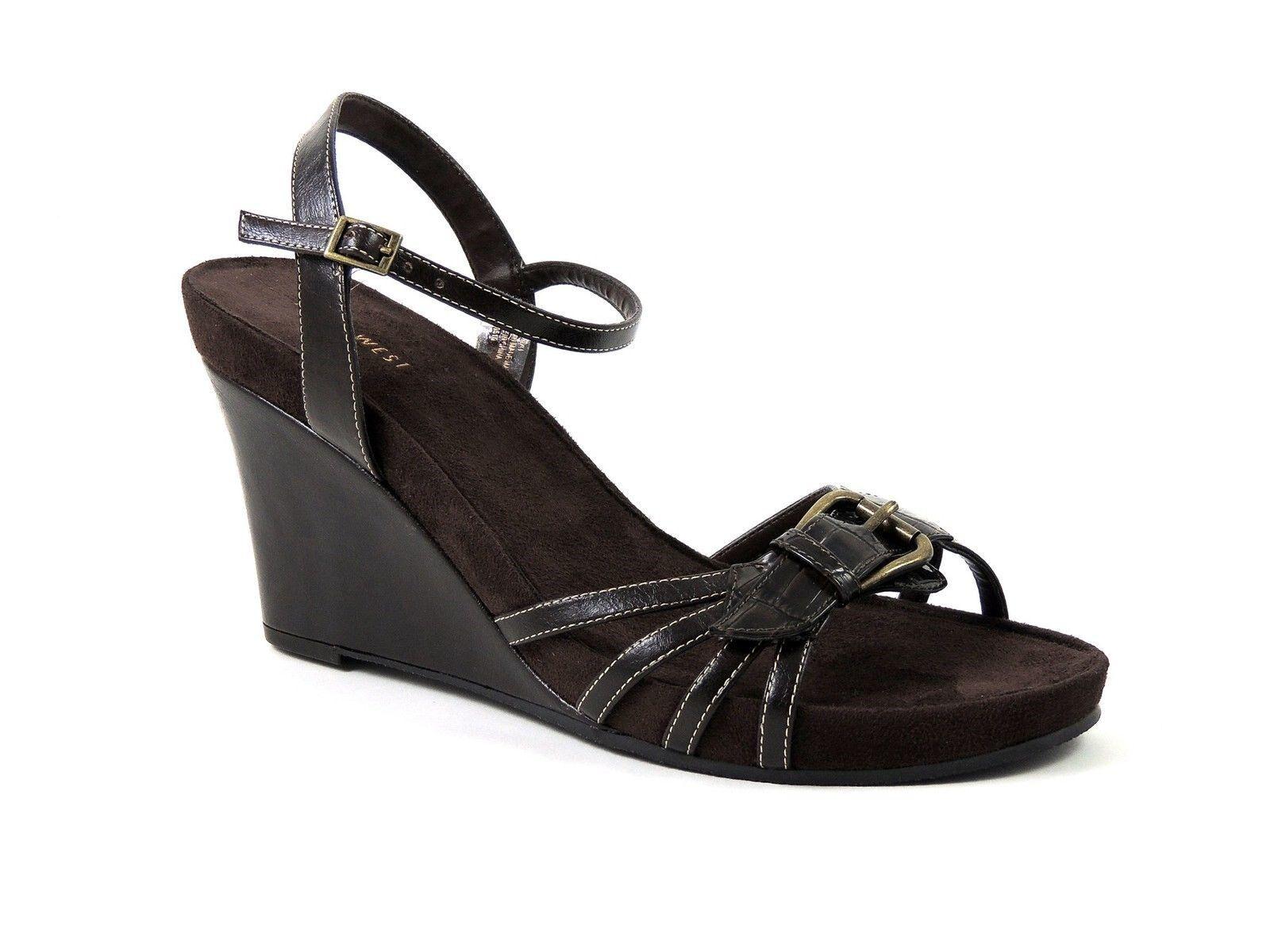 Nine West Women's Ardijanazu Wedge Sandals Brown Size 11 M