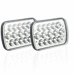 2PCS 45W 5X7 7X6 inch Led Headlights fit for H6054 Jeep Wrangler YJ Cherokee XJ