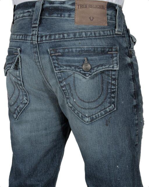 99049da7d True Religion Men s Rocco Relaxed Skinny Jeans W Flap MH54NYL1 DFVM Blue