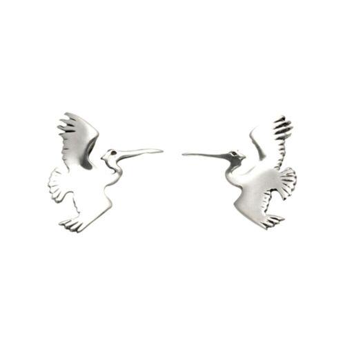 Sterling Silver Pelican in Flight Stud Earrings SE706