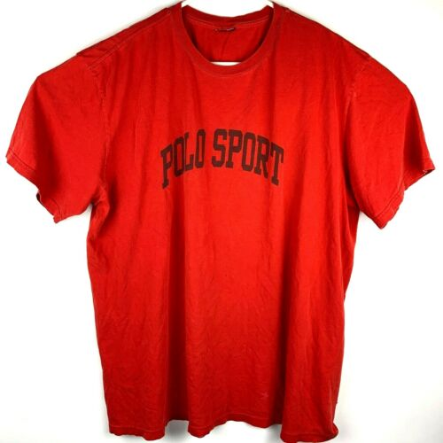 Vintage Polo Sport Red Tee Shirt XXL