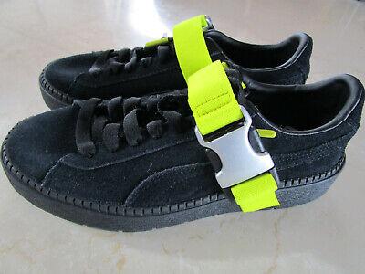 PUMA FENTY Damen Schuhe Gr.37,5, Wildleder mit dicker Sohle, schwarz, neu | eBay