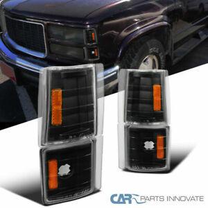 Chevy//GMC C10 C//K Suburban Yukon Sierra Black Corner Lights Lamp