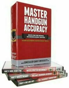 Master-Handgun-Accuracy-Training-DVD-SET-Concealed-Carry-University-6-HOURS