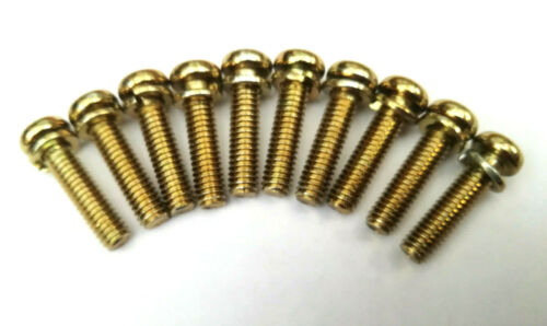 10mm-20mm M4 J.I.S Yellow Passivated Pan Head Screws with Washer