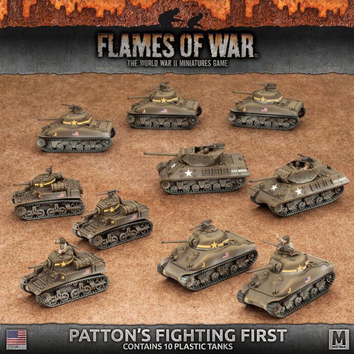 Flames of War - American  Patton's Fighting primero USAB08   prima qualità ai consumatori