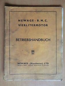 Newage-BMC-Vierliter-Motor-Handbuch-Betrieb-Wartung-Reparatur-Ausgabe-1958