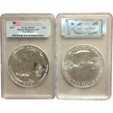 2013 5 oz Silver Pcgs Ms69 Fs Mount Rushmore National Park Sd