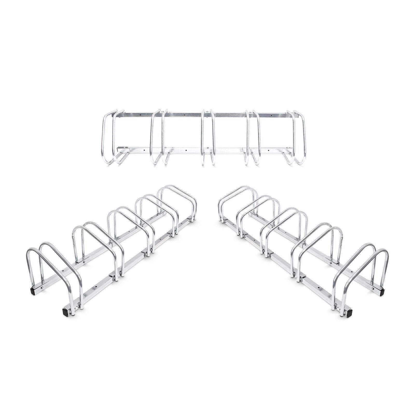 3 x 5er Fahrradständer für 15 Fahrräder, Bügelparker Stahl, Wand und Boden
