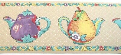Brewster Wallpaper border Of Teapot And Leafs