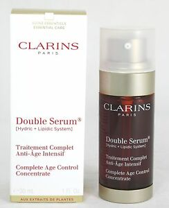 clarins double serum complete age control concentrate 1oz 30ml nib sku 8053 ebay. Black Bedroom Furniture Sets. Home Design Ideas
