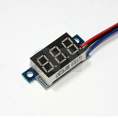 DC 0V -100V Green Light LED Panel Voltage Meter Mini 3-Digital Display Voltmeter