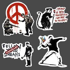 4x Banksy Aufkleber set vinyl Sticker graffiti street art rat bmx skate decal