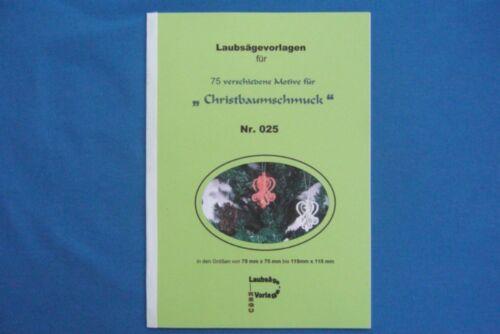 """REGU Laubsägevorlage Nr.025 /""""75 x Christbaumschmuck/"""" zum aussägen und basteln"""