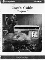 Husqvarna Viking Designer I 1 Floppy Owners Users Guide Instruction Manual Book