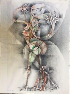 Bouche-Frederic-encre-et-aquarelle-sur-papier-signee-abstraction-art-abstrait