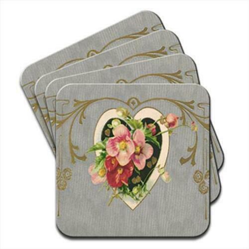 Antique Love Set of 4 Coasters