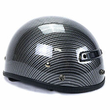 Vega XTS Carbon Fiber Graphic Half Helmet Medium Harley Davidson Crusier Chopper