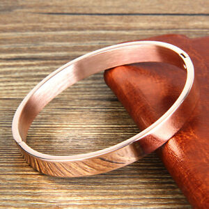 Edelstahl Armband Manschette Armreif Runde Armband für Männer 8mm Roségold