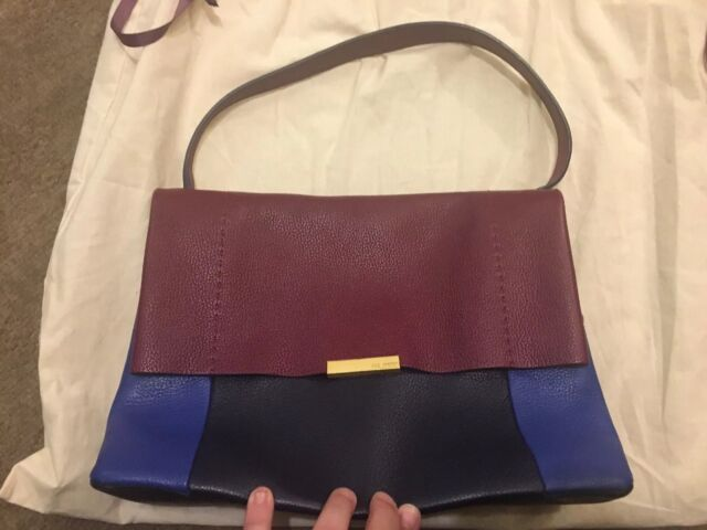 1bc423c2e Bnwt Ted Baker Leather Shoulder Navy Blue And Burgundy Proter Bag Large Rrp  £199
