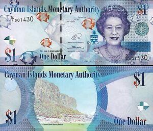 Cayman-Islands-1-Dollar-2014-2010-UNC-LOW-Serial-001-Prefix-D-4-P-38d