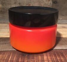 """Vintage Anchor Hocking Fire King 5"""" Tall Milk Glass Red / Orange Canister"""