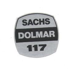 Sachs-Dolmar 117 Original Typ Aufkleber f. Kettensäge Motorsäge chainsaw sticker