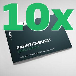 10er Pack - Type 7 Premium-Fahrtenbuch DIN A6, 60 Seiten, für Finanzamt geeignet