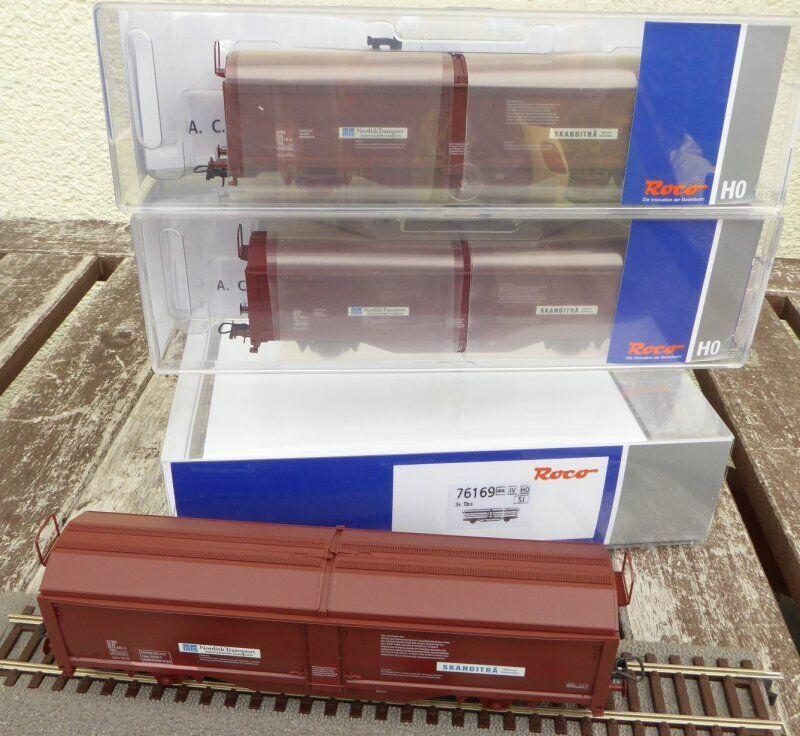 Roco 76169 H0 Set Vagone con Porta Scorrevole Tbis 3teilig il Sj Epoca 45, IN
