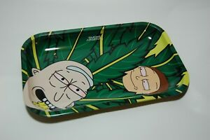 Marijuana Cannabis ROLLING TRAY Rick And Morty Large 10.75 x 7 inch NEW