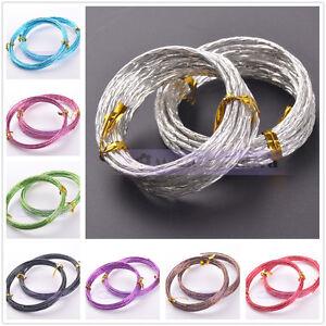 1Roll Gold 18//15//12gauge 1.0//1.5//2.0mm Soft Aluminium Craft Wire Metal Cord