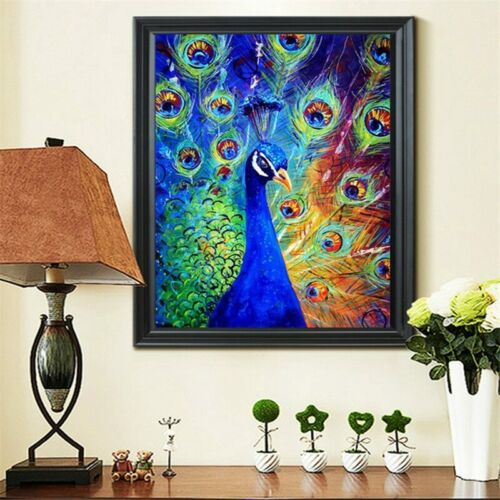 5D À faire soi-même rond diamant Painting Peacock montrant cross stitch Kits Diamant mosaïque
