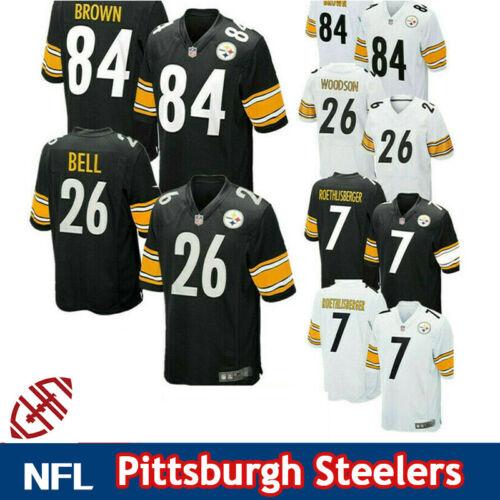 Pittsburgh Steelers Jersey Brown Roethlisberger Unisex American Football T-shirt