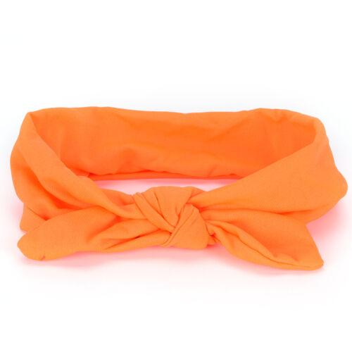 Women Yoga Elastic Cute Bow Hairband Turban Knotted Rabbit Hair Band Headband FP