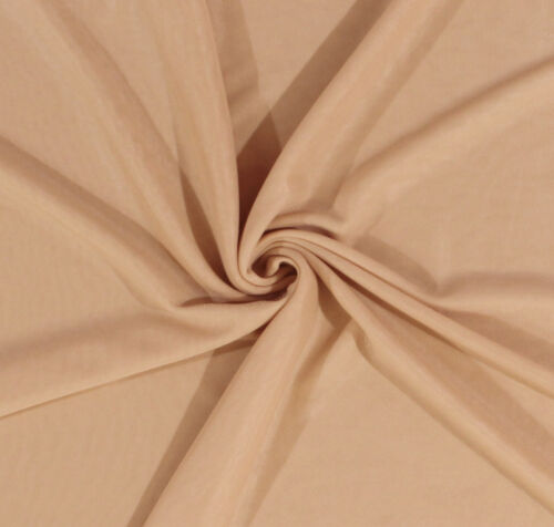 """108/"""" Tricot Nude Semi-Sheer 2-Way Stretch Lightweight Fabric by the Yard D177.05"""