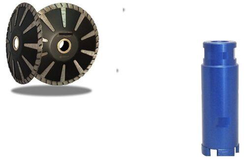 """Diamond Core Drill Bit 1 3//8 Inch Granite 5/"""" Turbo Convex Blade Concrete Marble"""